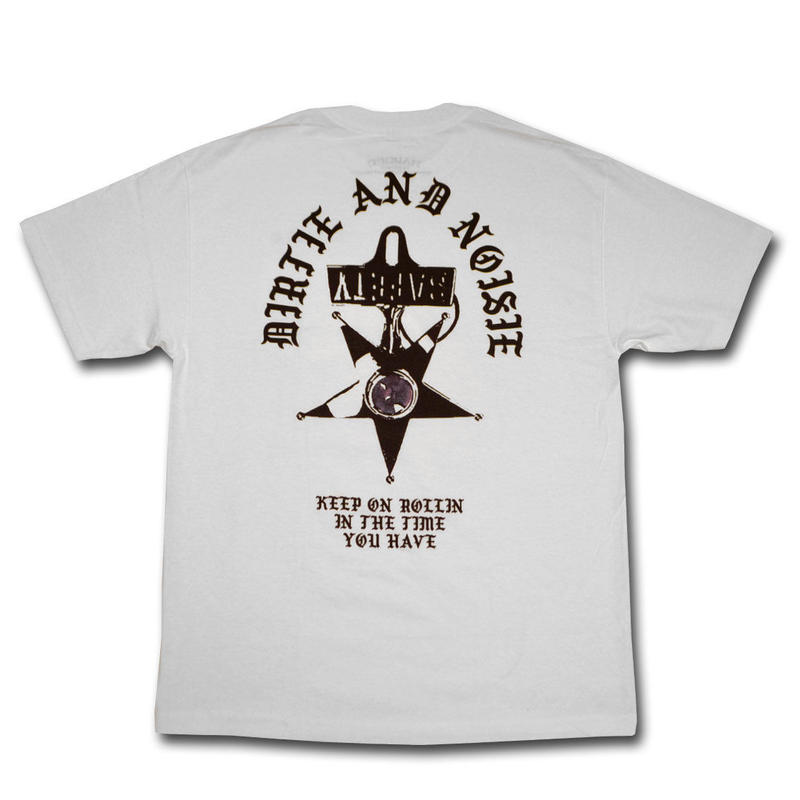 HARDEE UNSAFETIE T-SHIRT WHITE