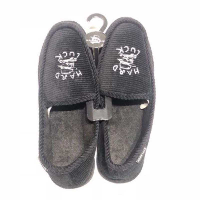 HARD LUCK TIMES SLIPPERS BLACK
