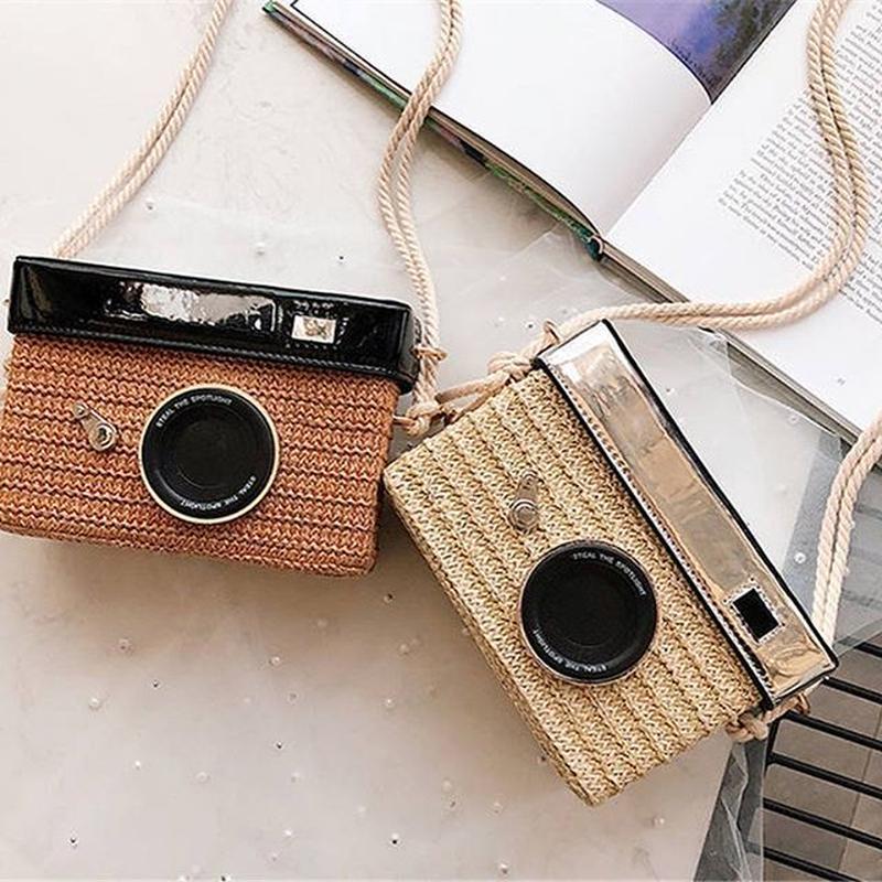 Vintage camera  square bag