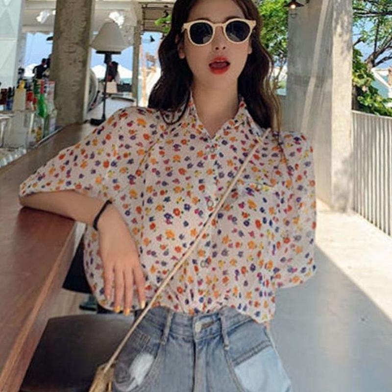 Colour Flower blouse