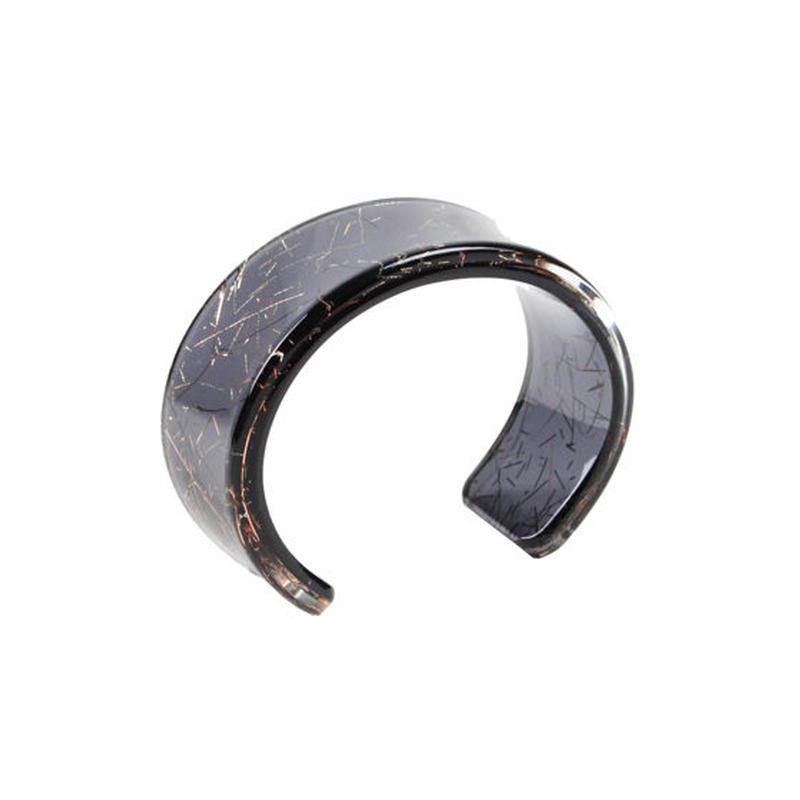Oval Bangle black / オーバルバングル ブラック