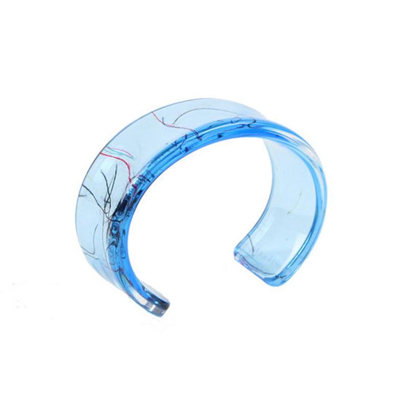 Oval Bangle  light blue / オーバルバングル ライトブルー