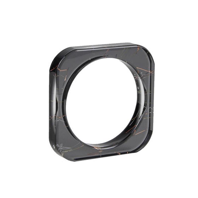 Square Bangle Black / スクエアバングル ブラック