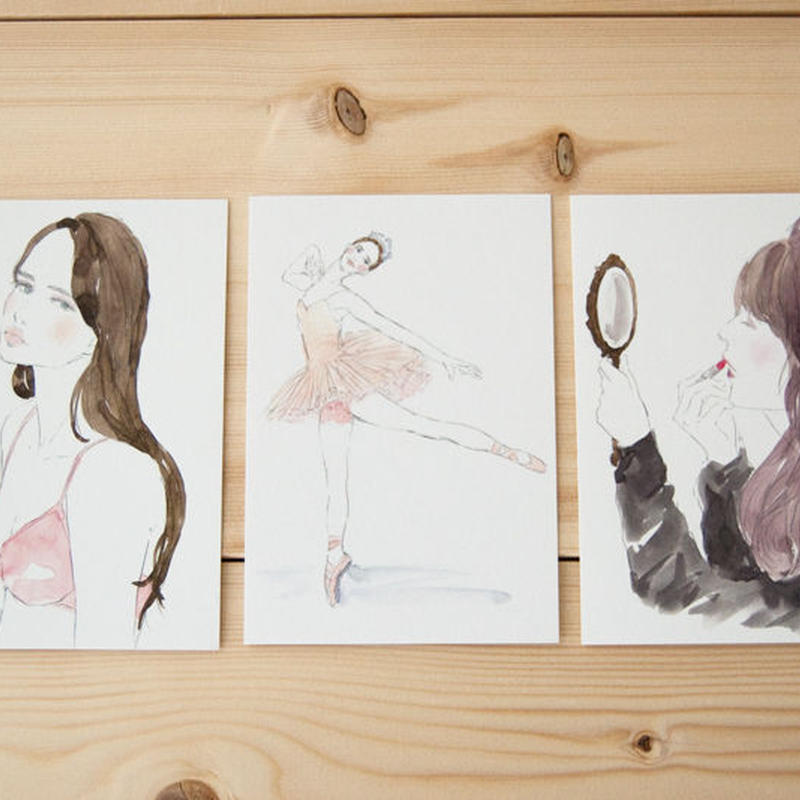 Yuriko Oyama Postcard 3枚セット A