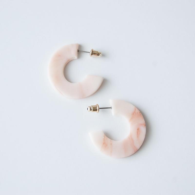 Lack of Geometry Pierced Earrings - Lack of Circle