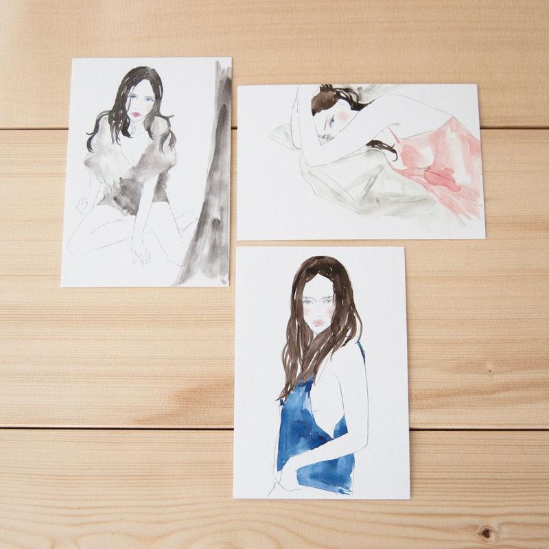 Yuriko Oyama Postcard 3枚セット B