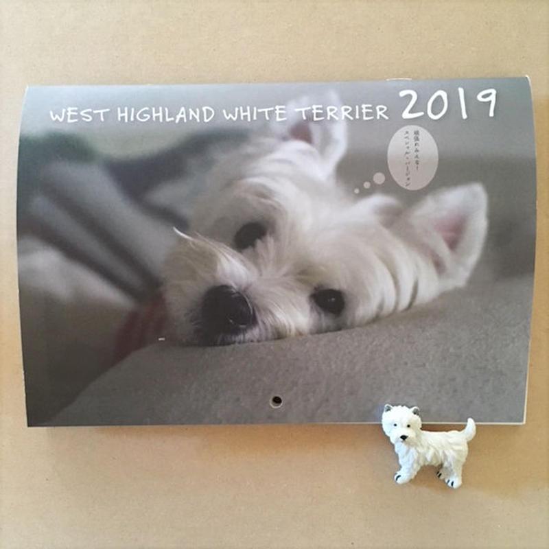 2019年mini壁掛け ウェスティ  カレンダー