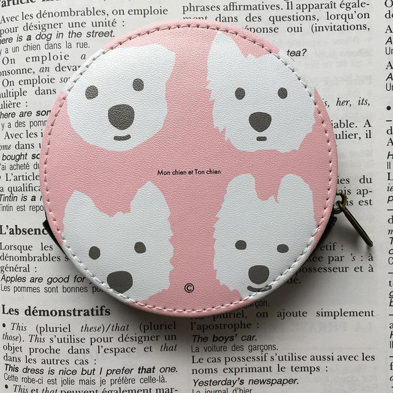 小物ケース・サークル型 Brown-Pink&Peppermint