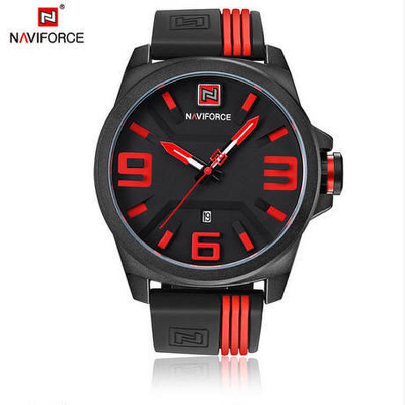cheap for discount 8647e 86ad4 Naviforce 腕時計メンズスポーツクォーツ腕時計 カジュアル ...