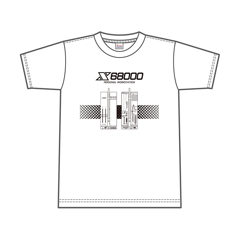X68000 Tシャツ「FRONT/REAR VIEW」