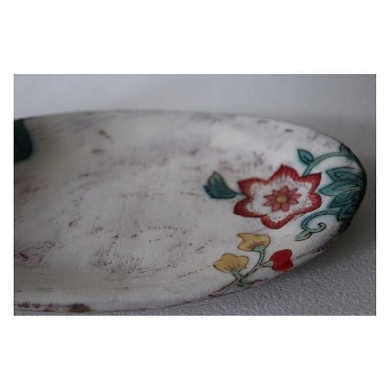 稲積佳谷 九谷焼 風の道 白楕円皿