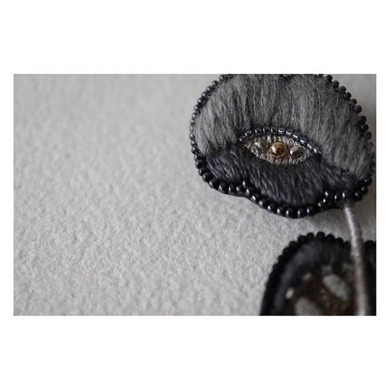 acou  刺繍 ブローチ rose