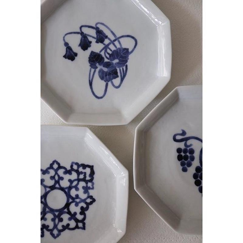 海野裕 六角皿三種 九谷焼