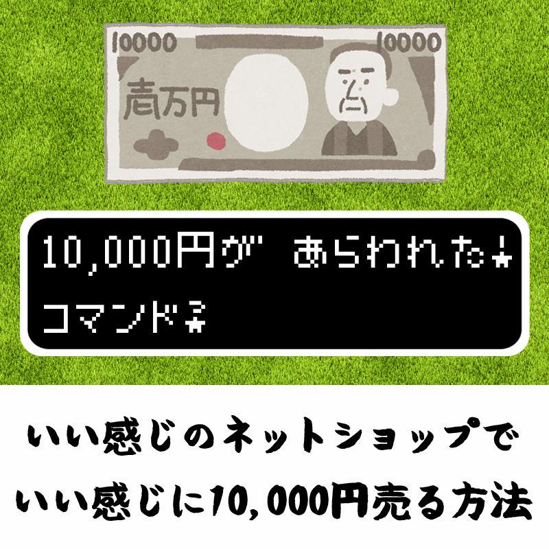 いい感じのネットショップで、いい感じに10,000円売る方法