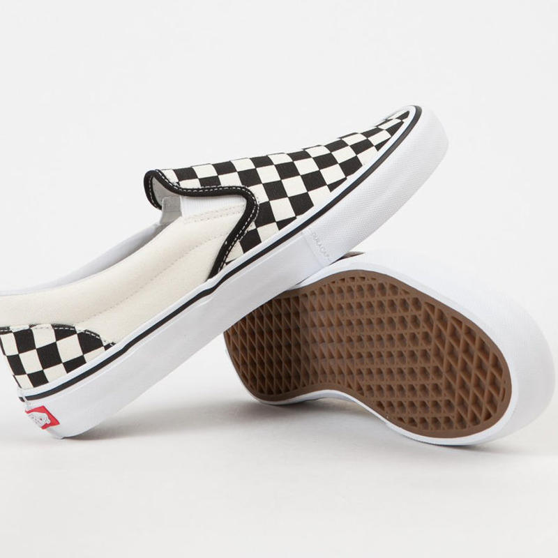 VANS SLIP-ON PRO SHOES CHECKERBOARD / BLACK / WHITE