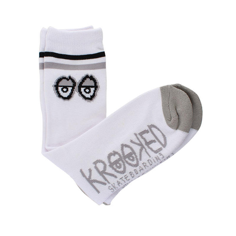 KROOKED BIG EYES SOCKS WHITE/GREY/BLACK