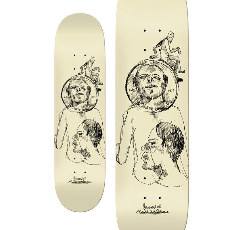 KROOKED MIKE ANDERSON COIN DECK (8.38 x 32inch)