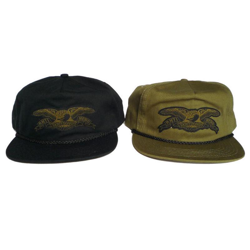 ANTI HERO STOCK EAGLE PATCH SNAPBACK CAP