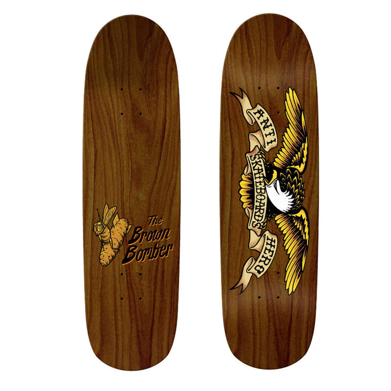 ANTI HERO SHAPED EAGLE BROWN BOMBER DECK (8.86 x 32inch)