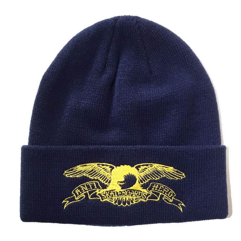 ANTI HERO EAGLE OUTLINE EMBROIDERED CUFF BEANIE