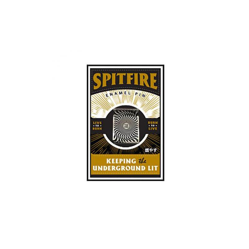 SPITFIRE BOX SWIRL LAPEL PIN