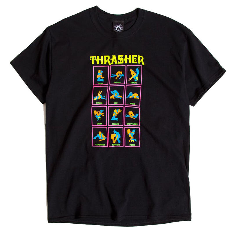 THRASHER BLACK LIGHT TEE