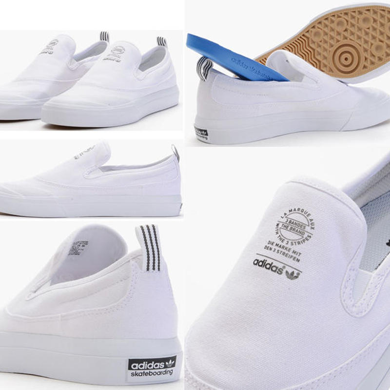 ADIDAS SKATEBOARDING MATCHCOURT SLIP ON SHOES