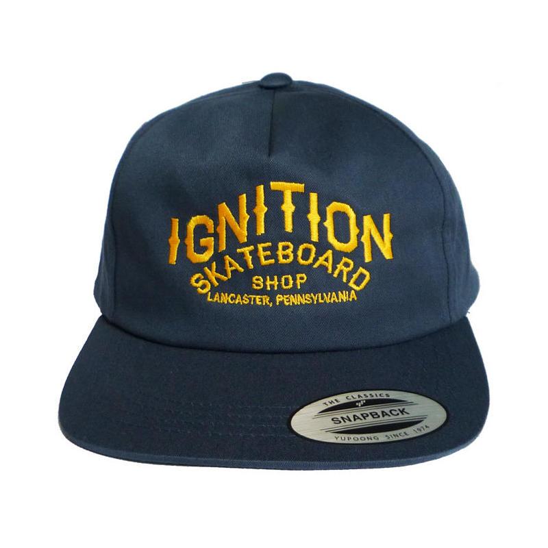 IGNITION SKATESHOP  LOGO EMBROIDERY CAP