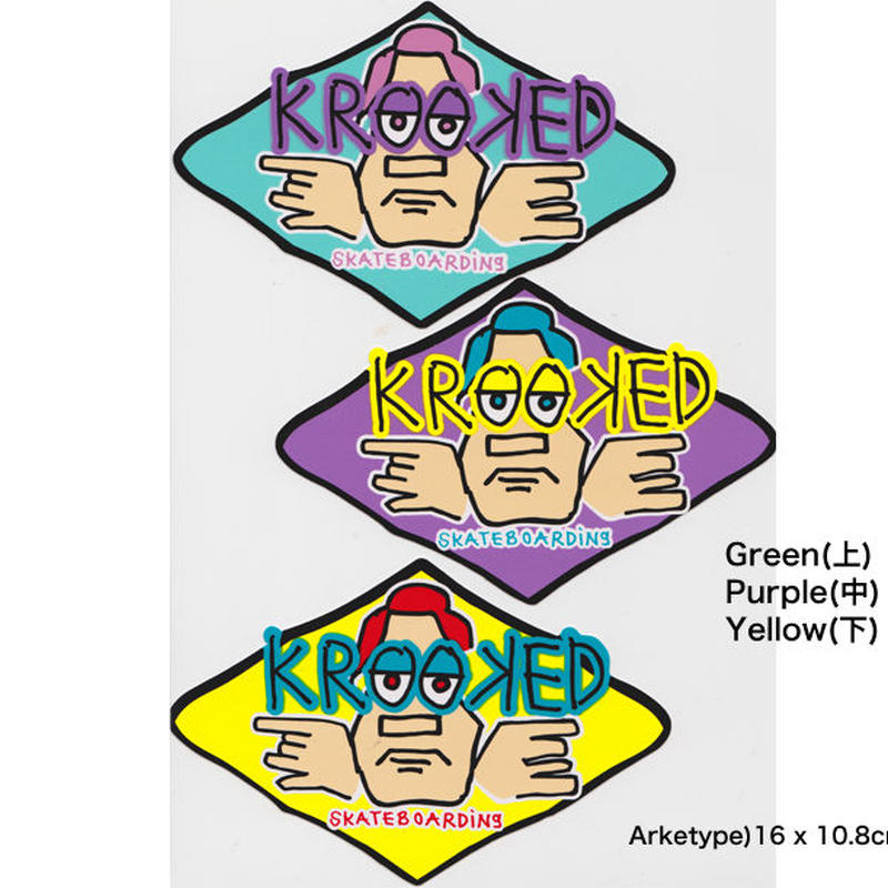 KROOKED  ARKTYPE STICKERS