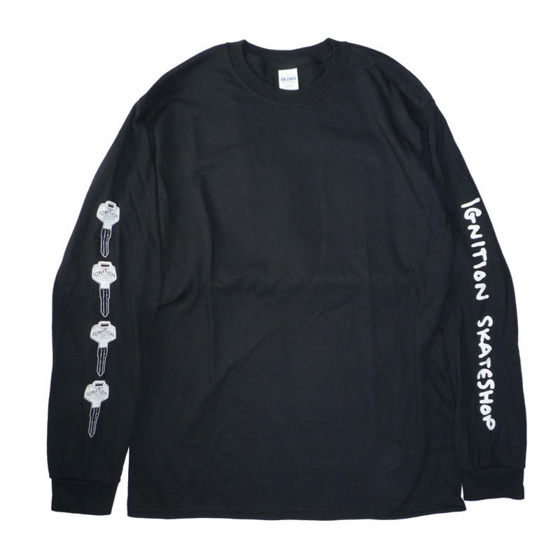 SALE! セール! IGNITION SKATESHOP KEY L/S TEE
