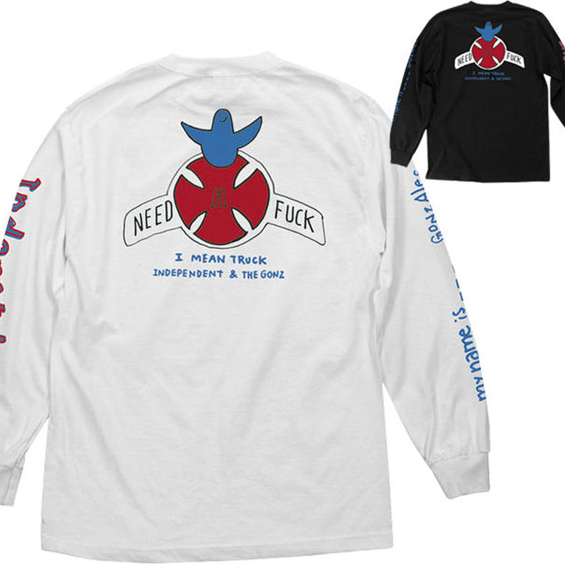 INDEPENDENT x MARK GONZALES MY NAME IS GONZALES L/S TEE