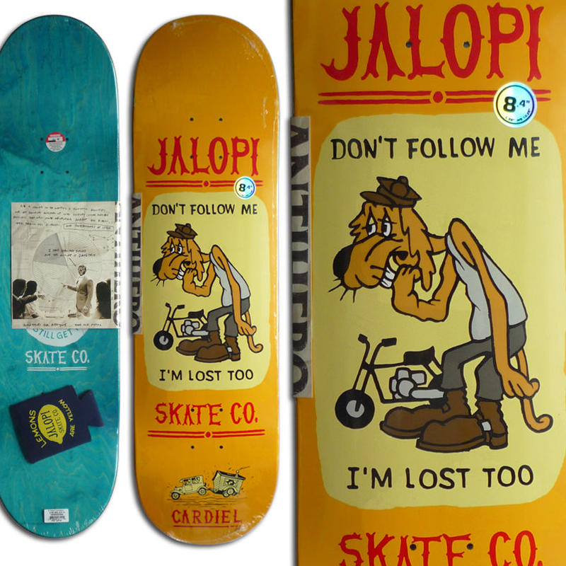 ANTI HERO JALOPI SKATE CO. JOHN CARDIEL DECK  (8.4 x 32inch)