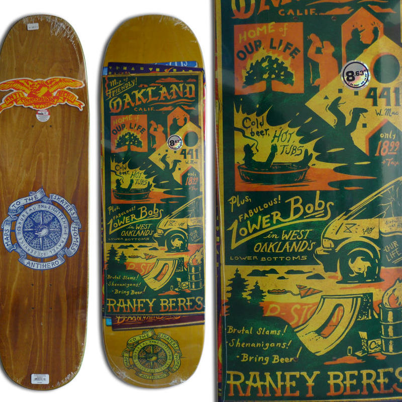 ANTI HERO RANEY BERES MAPS TO SKATERS HOMES DECK   (8.63 x 32inch)
