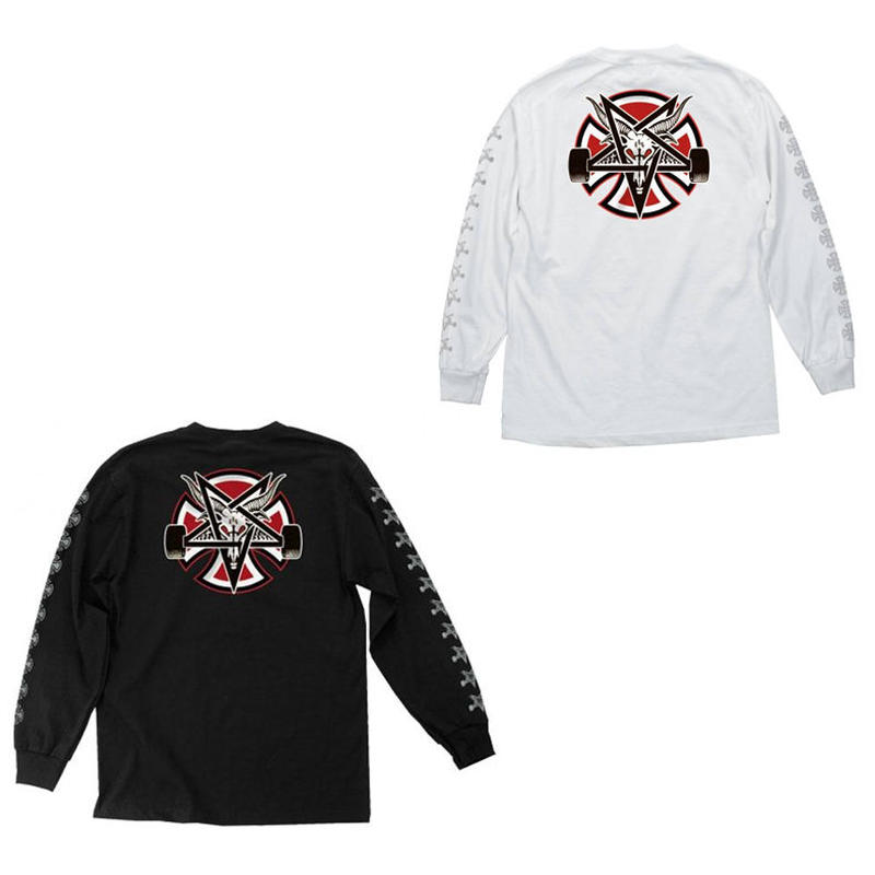 INDEPENDENT x THRASHER PENTAGRAM CROSS L/S TEE
