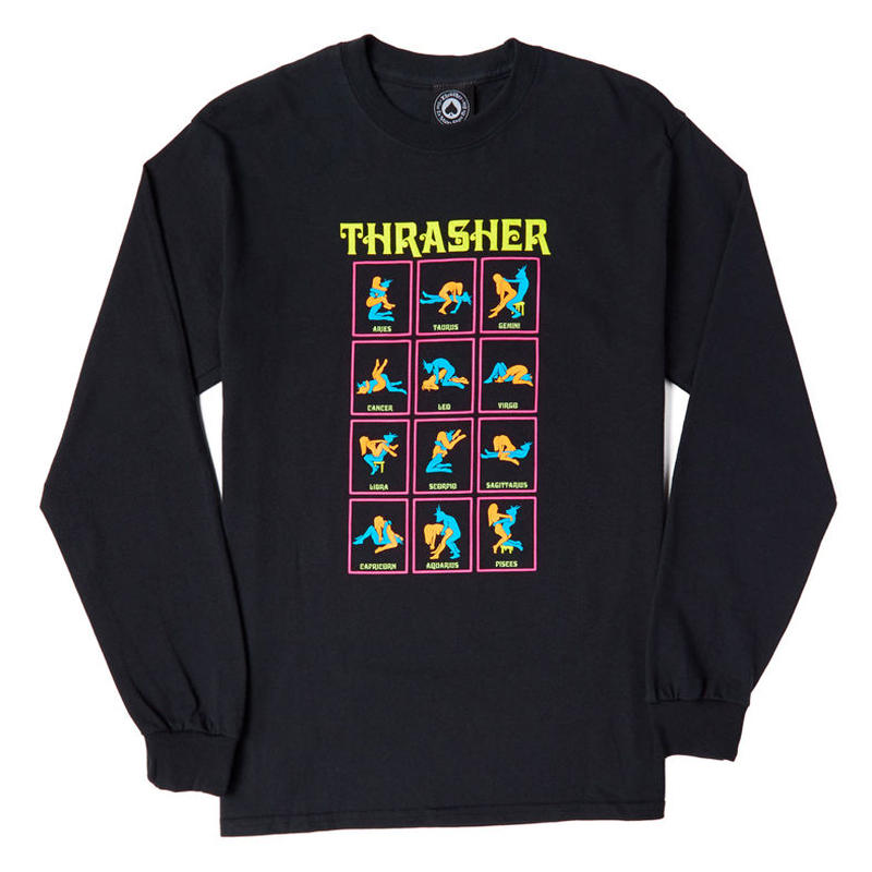 THRASHER BLACK LIGHT L/S TEE