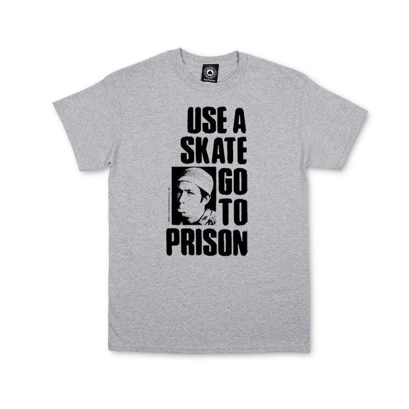 THRASHER  USE A SKATE GO TO PRISON TEE