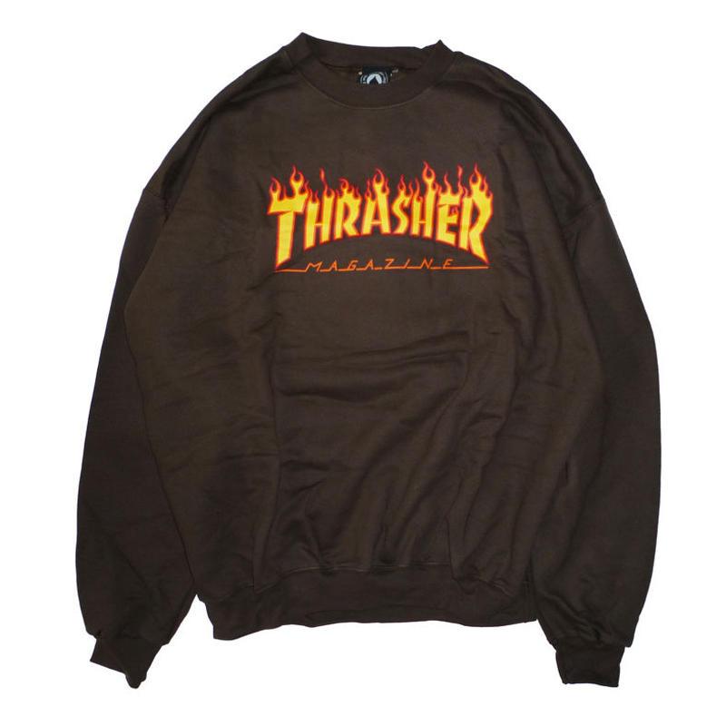 THRASHER  FLAME LOGO CREWSWEAT