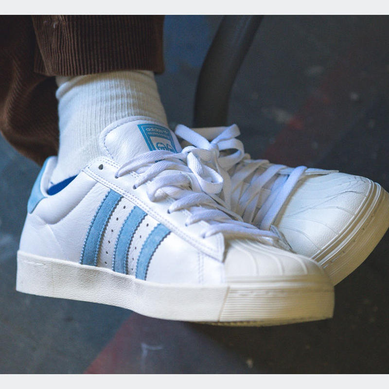 ADIDAS SKATEBOARDING x KROOKED GONZ SUPERSTAR VULC X  SKATE SHOES