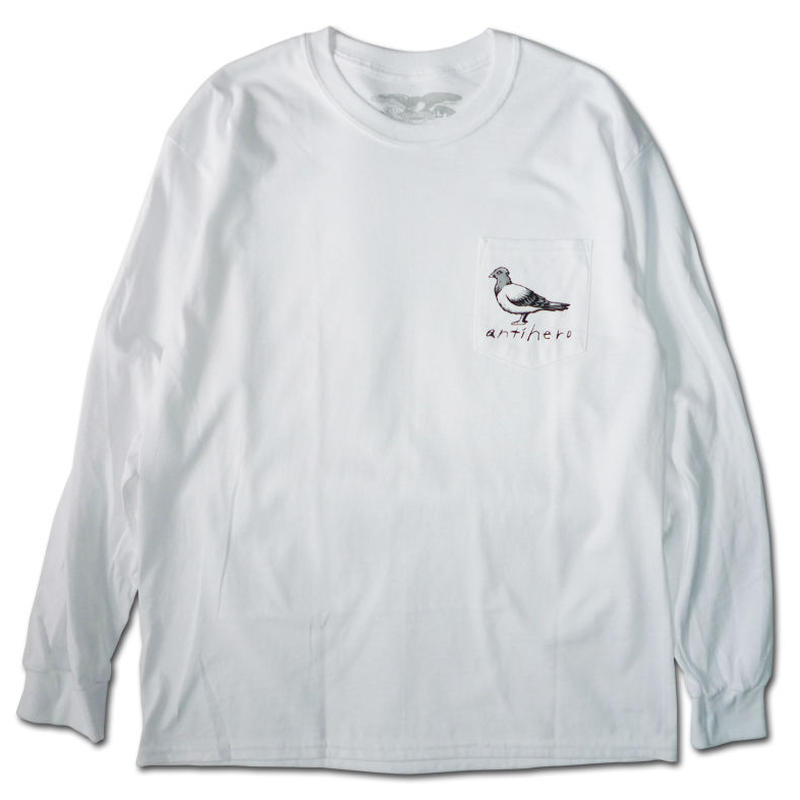 ANTI HERO OG PIGEON POCKET L/S TEE