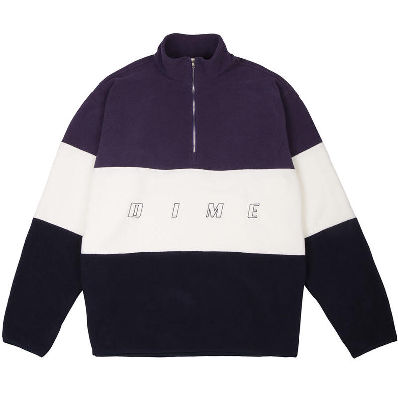 DIME 3 TONE FLEECE PULLOVER JACKET