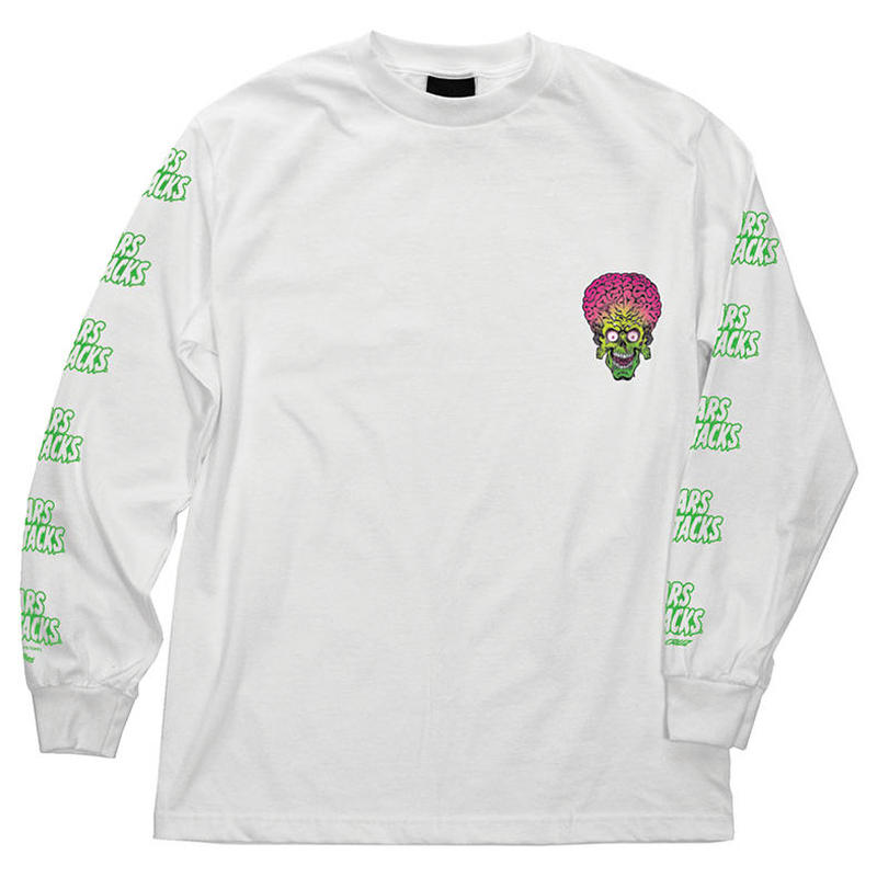 SANTA CRUZ x MARS ATTACKS MARTIAN FACE L/S TEE