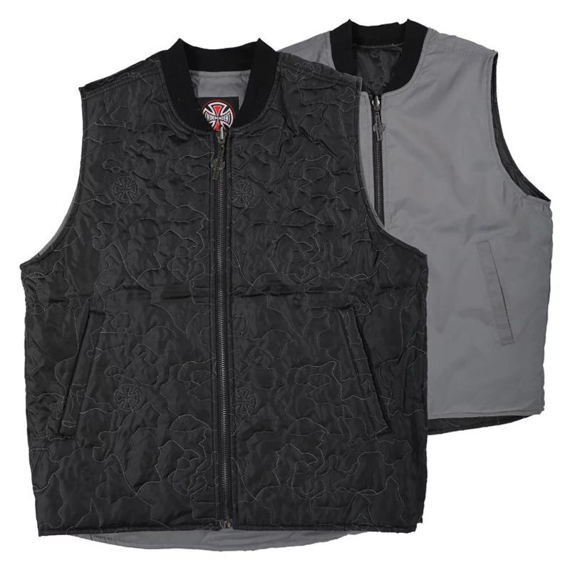INDEPENDENT CORE REVERSIBLE VEST BLACK / GREY
