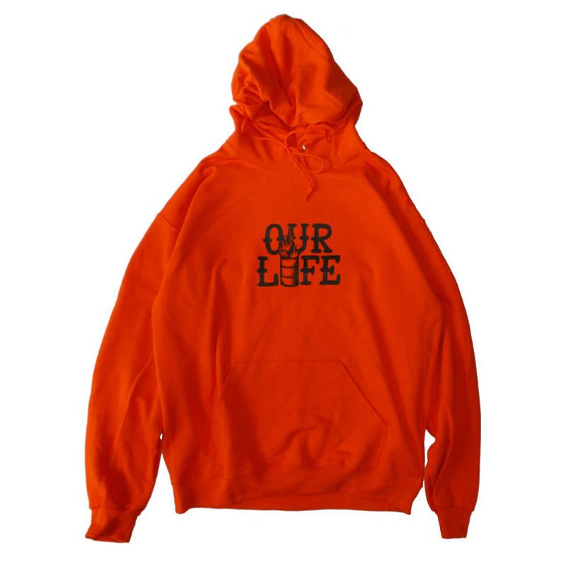 OUR LIFE STACKED BARREL HOODIE