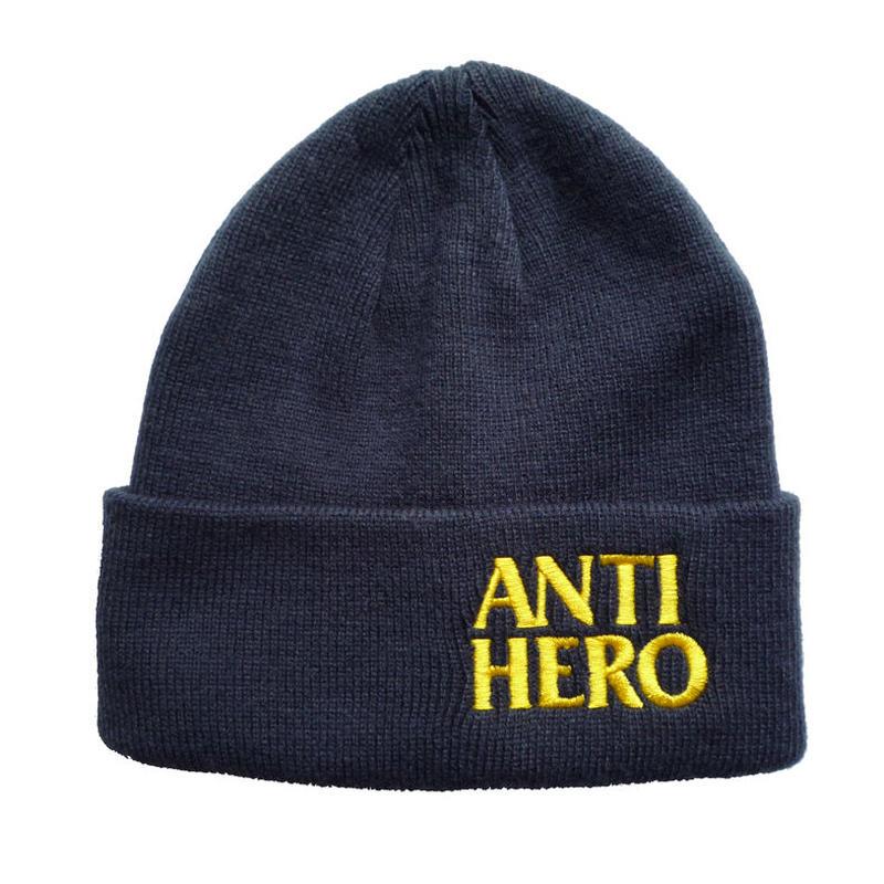 ANTI HERO BLACKHERO EMBROIDERED CUFF BEANIE