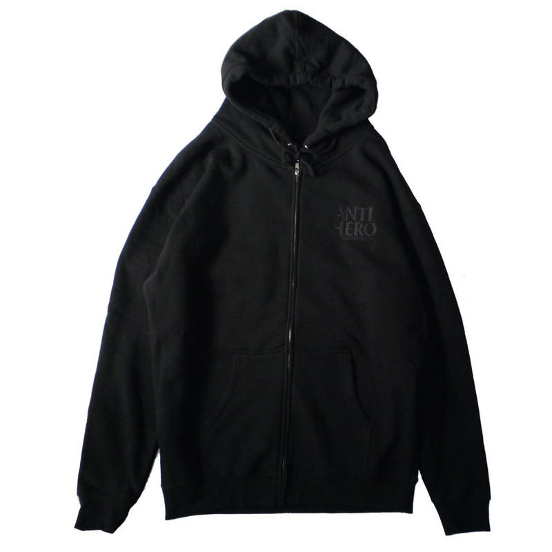ANTI HERO LIL BLACKHERO EMBROIDERY ZIP HOOD