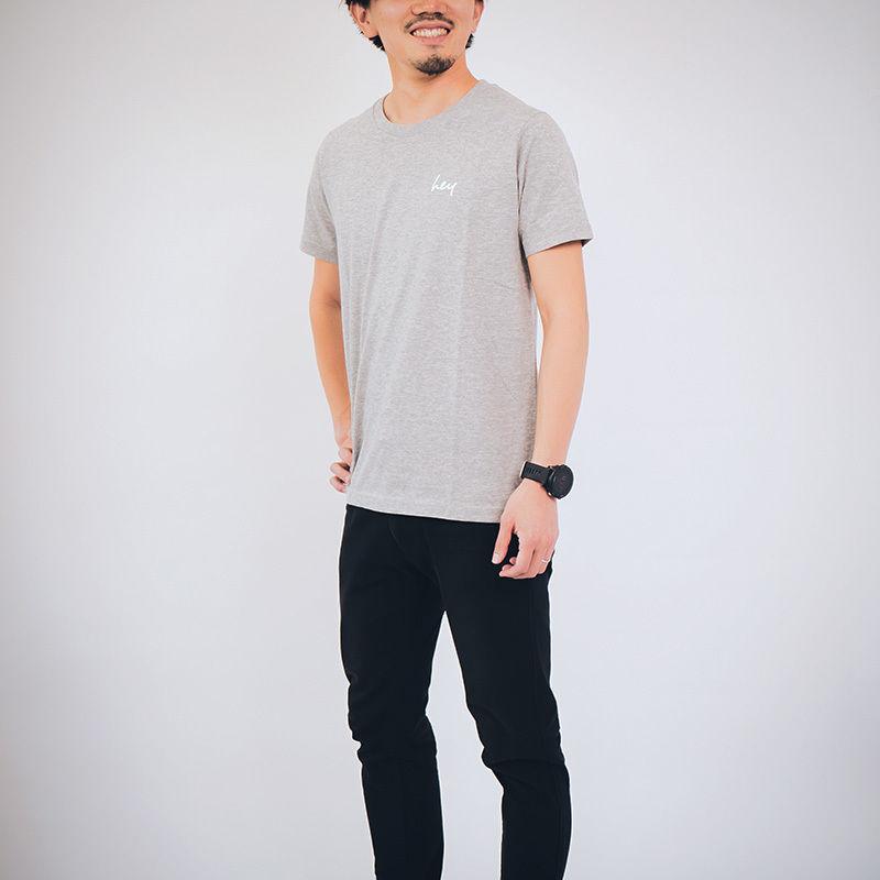 【ユニセックス】 heyスタンダードTシャツ : Gray
