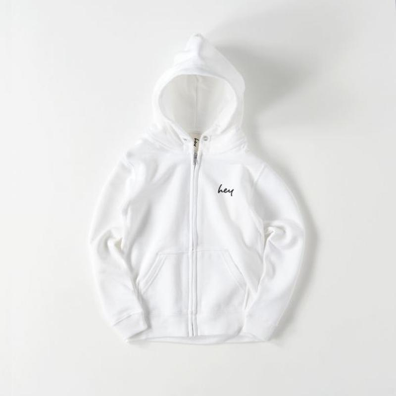 【Boys & Girls】hey スタンダードパーカー:White 110サイズ