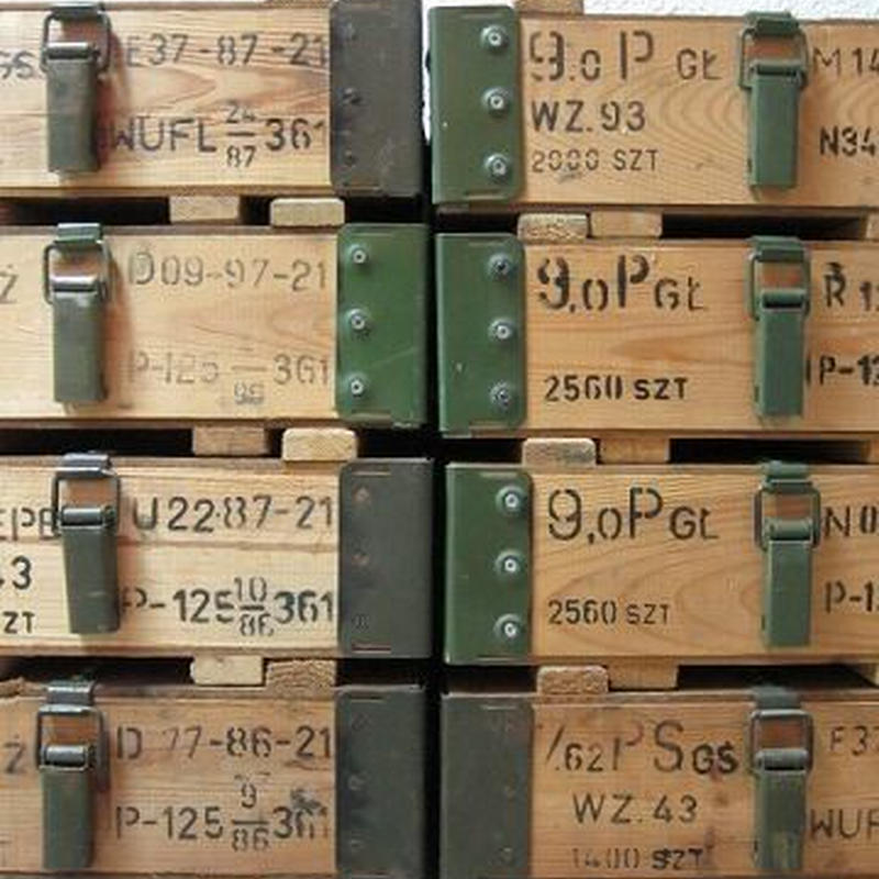 Polish Army /METAL FRAME WOOD BOX / USED