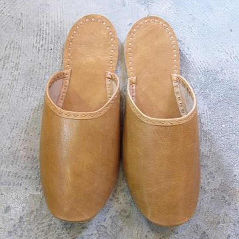Buffalo Leather Slippers / mens
