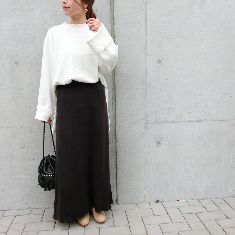 2019ss コットンストレッチマキシスカート(1週間前後での発送予定)